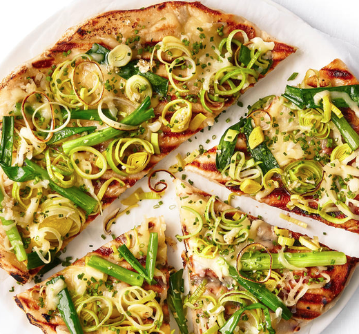 Grilled Four-Onion Pizza